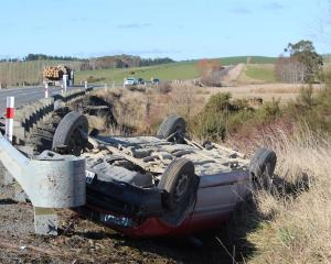The sole occupant of a vehicle which collided with a logging truck between Clinton and Balclutha...