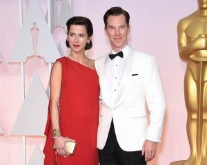 Benedict Cumberbatch with Sophie Hunter. Photo: Bang Showbiz