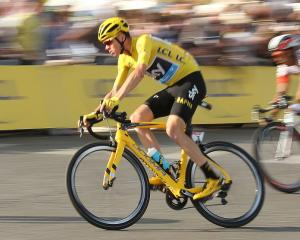 Chris Froome riding during stage 21 of the recent Tour de France. Photo: Getty Images