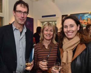 Pieter van Ammers, Suzi Price and Cynthia Langford. all of Dunedin.