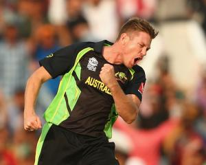 James Faulkner's hat-trick was not enough for Australia. Photo Getty
