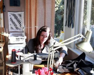 Melanie Child works in her home studio.