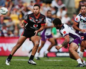 Jazz Tevaga in action for the Warriors earlier this year. Photo: Getty Images