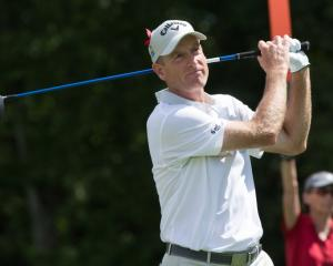 Jim Furyk during his round of 58. Photo: Reuters