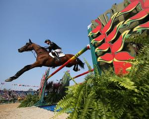 New Zealand's Mark Todd during the ill-fated team jumping final. Photo: Getty Images