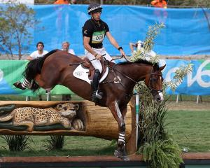New Zealand's Tim Price during the cross country. Photo: Getty Images