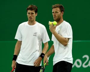 Marcus Daniell and Michael Venus during their match at the Rio Olympics. Photo: Getty Images