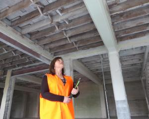 Waitaki District Council property manager Renee Julius examines Oamaru's RSA building, which  has...