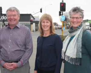 Waitaki Safer Community Trust restorative justice co-ordinator Derek Beveridge, trust chairwoman...