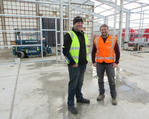 Standing in the centre of Oamaru's Rainbow Confectionery's warehouse expansion site is  the...