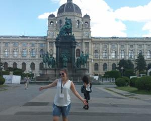 Olivia Butler at Maria Theresien Platz in Vienna, where she recently attended a Global Young...