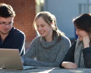 (from left) Otago University Students Association (OUSA) welfare officer Bryn Jenkins, University...