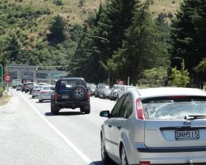 Traffic on Stanley St before traffic lights were installed in July. PHOTO:ODT FILES