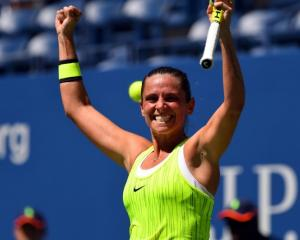 Roberta Vinci after beating Anna-Lena Friedsam. Photo: Reuters