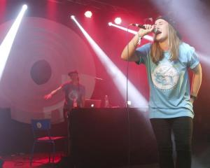 Rona Wignall, aka Arcee, performs at the Fusion Festival in Germany recently. Photo supplied.