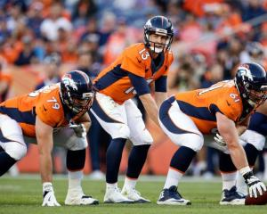 Trevor Siemian (13) in action for the Broncos in a pre-season game. Photo: Reuters