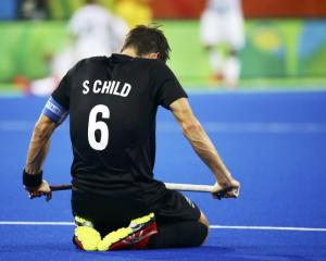 Simon Child after New Zealand's loss. Photo: Reuters
