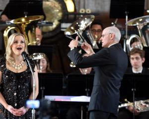 Sophie Morris (soloist) sings with the St Kilda Brass Band with Peter Adams the conductor at Knox...