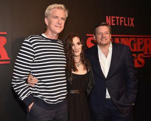 Stranger Things stars Matthew Modine and Winona Ryder, alongside Netflix Chief Content Officer...