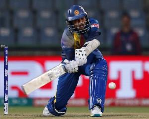 Tillakaratne Dilshan plays a shot for Sri Lanka against South Africa. Photo: Reuters