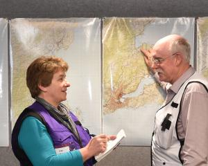 Civil Defence Otago emergency management controller Chris Hawker and public information manager...
