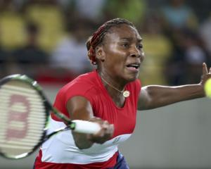 Venus Williams during her first round Olympics match. Photo: Reuters