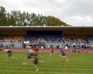 A race at the Dunedin North Zone sports at the Caledonian Ground last Thursday. Photo by Gregor...