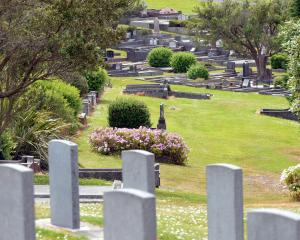 The unmarked mass grave at Andersons Bay Cemetery. Photo by Stephen Jaquiery.