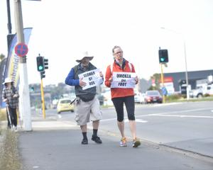 Bus Users Support Group Dunedin members (from left) Peter Dowden and Jeanette Robinson Tromop...