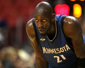 Kevin Garnett playing for the Minnesota Timberwolves last season. Photo: Getty Images