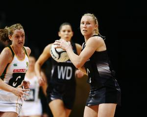 Laura Langman during the Silver Ferns' quad series match against South Africa. Photo: Getty Images