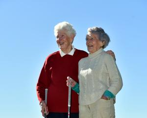 Margaret Borland, right, and Reina Booth say that regular golf play has benefited their health...