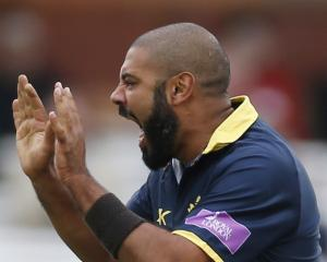 Jeetan Patel has been playing county cricket for Warwickshire. Photo: Reuters