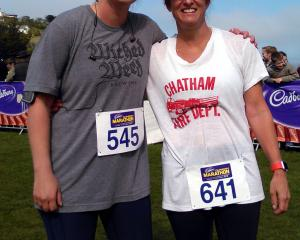 Colorado natives Lucy Corbin (20) and mother Lisa competed in the Cadbury Dunedin Marathon half...
