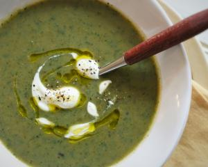 Nettle and potato soup. Photo by Simon Lambert.