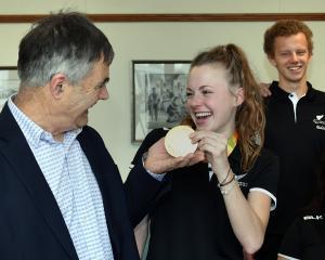Otago's athletics Paralympians (from left) Anna Grimaldi, Jacob Phillips, Jessica Hamill, Rory...