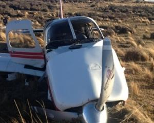 The crash scene near Poolburn in Central Otago. Photo NZ Police