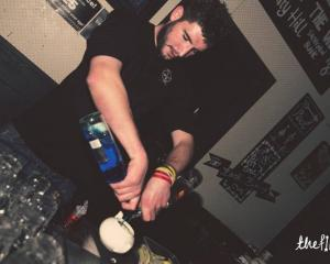 Dean Dewhurst working at Queenstown bar The Find. Photo supplied.
