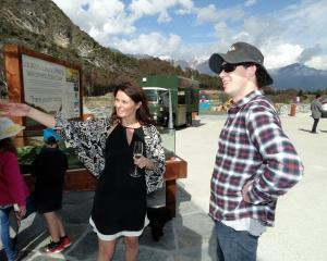Glen Tui Heights co-developer Janine Twose details stage two to open day visitor Jonathan Lane....