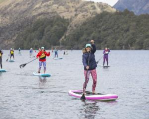 Olympic athlete Torah Bright moves out on Moke Lake, near Queenstown. PHOTO: SUPPLIED