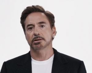 Robert Downey Jr is one of several celebrities featured in an ad advocating against Donald Trump....