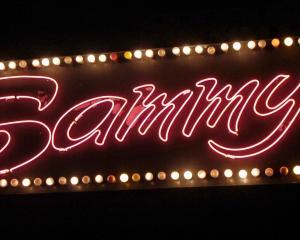 Sammy's neon sign on Crawford Street.
