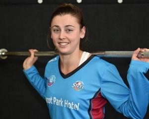 Southern Steel player Gina Crampton trains at the High Performance Sport New Zealand gym in...