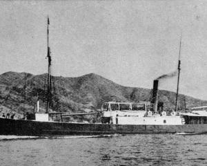 The Wanganui Steam Packet Company's Stormbird, wrecked at Wanganui was the oldest iron vessel...
