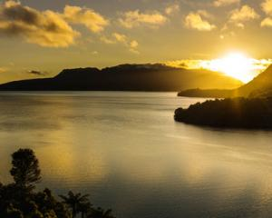 Sunrise over Mount Tarawera, Bay of Plenty. Photo: NZ Herald