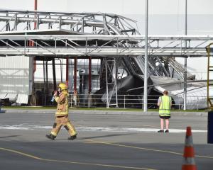 The collapsed Edendale silo.PHOTO: GREGOR RICHARDSON