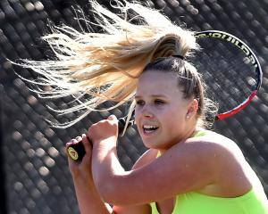 Auckland's Charlotte Booth in action during her 10-4 semifinal win against Zoe Berryman, of...