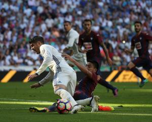 Real Madrid's Alvaro Morata in action against Eibar earlier this season. Photo: Reuters