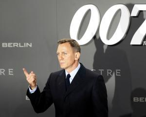 James Bond actor Daniel Craig poses at the German premiere of 'Spectre' in Berlin in October last...