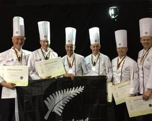 NZ Anchor Food Professionals team members  (from left) Stephen Le Corre, Richard Hingston, Darren...